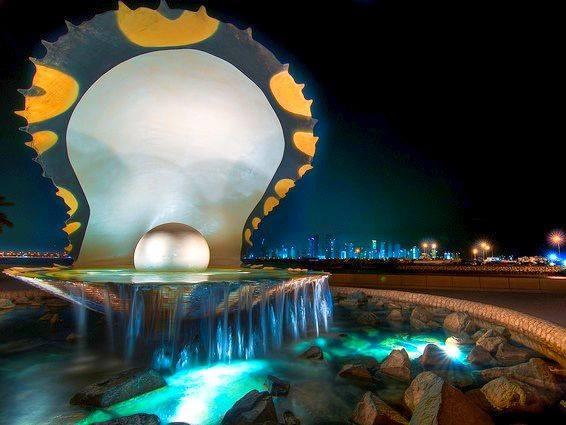 Qatar pearl fountain